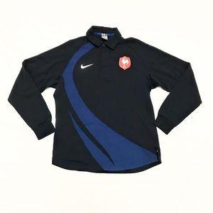 Vintage 90's Nike FFR France National Rugby Jersey
